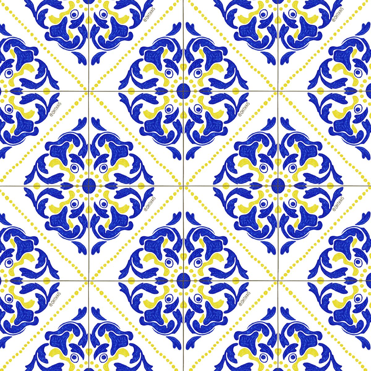 Estampa azulejos portugueses oh tha s designer de for Azulejos de portugal