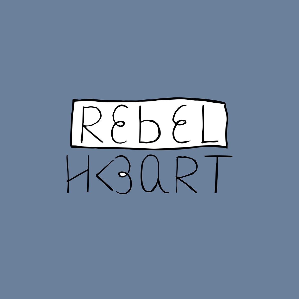 Logotipo Rebel Heart - Oh, Thaís!
